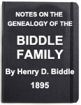 'Notes on the Genealogy of the Biddle Family'